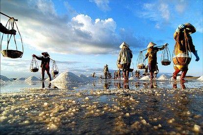 Поля соли в Нянчанге