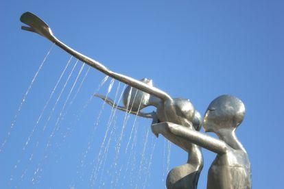 Скульптура дождь любви